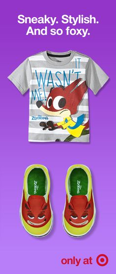 596032127 Sport the foxiest must-haves on the playground with this Nick Wilde graphic  tee and