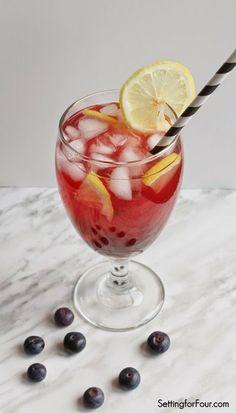 Easy to make, refreshing Lemon Blueberry Pomegranate Iced Tea.