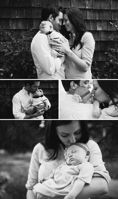 black and white newborn family photography