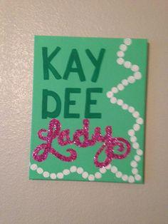Kappa Delta big/little idea Kay Dee Lady