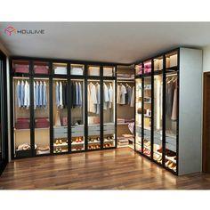 May 2020 - Source Hot Selling American Style Glass Door Modern Design Wardrobe on m. Wardrobe Design Bedroom, Bedroom Bed Design, Bedroom Wardrobe, Wardrobe Closet, Home Room Design, Modern Wardrobe, Modern Closet, Wardrobe Door Designs, Closet Designs