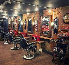 Barber Shop Interior, Barber Shop Decor, Hair Salon Interior, Hair Salon Names, Salon Lighting, Barber Haircuts, Master Barber, Barbershop Design, Best Barber