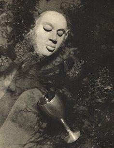 Lionel Wendt (1900-1944), Buddha Head & Wine Goblet.
