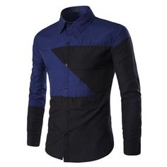 Buy Fireon Two-Tone Long-Sleeve Shirt at YesStyle.com! Quality products at remarkable prices. FREE WORLDWIDE SHIPPING on orders over US$35.