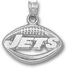 #FansEdge  New York Jets  Sterling Silver ''JETS'' Football Pendant