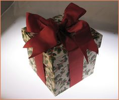 How-To: Tie a Ribbon Around a Box