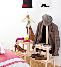 Gal n de noche de madera de teca ii proyecto banqueta y - Ikea galan de noche ...