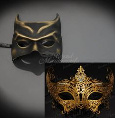 94e956c263ac 4everStore Couples Masquerade Mask, Batman Costume Masquerade Mask, Mens  Masquerade Mask, Masquerade Masks Women Gold