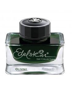 Pelikan Edelstein Bottled Ink for Fountain Pens Olivine 1 Each Pelikan Fountain Pen, Fountain Pen Ink, Pen Shop, Writing Pens, Rollerball Pen, Writing Instruments, Perfume Bottles, Gemstones, Ebay