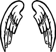 cartoon wings see my cartoon angel wings pictures clipart rh pinterest com cartoon angel wings images cartoon angel wings and halo