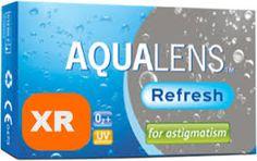 AQUACLENS Refresh for Astigmatism XR 3pack - 69.90€ - Μηνιαίος αστιγματικός μαλακός φακός επαφής, σιλικόνης υδρογέλης για υψηλούς αστιγματισμούς. Περισσότερη οξυγόνωση για μεγαλύτερη άνεση και υγεία. Ασφαιρικός σχεδιασμός. Προστασία UV.