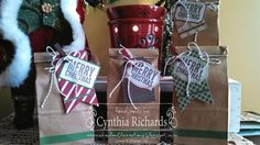 Stampin Up!, Under the tree tag a bag accessory kit, teacher gifts, gift bags, tags, ssink, ink a doodle creations