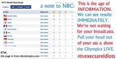NBC Olympics Results 2012 FAIL!!!  Love it...