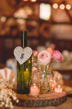 Rustic Wedding Centerpiece - Bohm