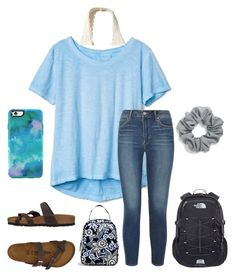"""""""Untitled #66"""" by faithjones1223 on Polyvore featuring Gap, Hollister Co., Articles of Society, Birkenstock, Natasha, OtterBox, The North Face and Vera Bradley"""