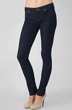 Dark skinny jeans go with everything.