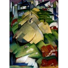 Alpenszene by Franz Marc oil painting art gallery Oil Portrait, Portrait Paintings, Fish Paintings, Koi Art, Franz Marc, Virtual Art, Online Art Gallery, Wall Art, Wall Decor