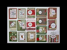 Echo Park's A Perfect Christmas collection- 38 cards from one 6x6 paper pad - YouTube