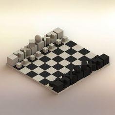 Chess. Render. 2017. #3d #solidworks #productdesign #digital #chess #ajedrez #bauhaus #josef #hartwig #josefhartwig #render #rendering #jaquemate #checkmate #classic #design #diseñodeproducto #diseño