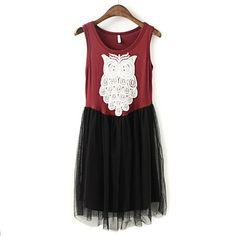 New Stylish Stitching Lace Dress [#779]