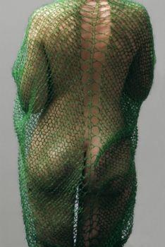 bloom lidewij edelkoort #bloom #green #edelkoort Indigo, Portrait Inspiration, Style Inspiration, Green Bodies, Textiles, Fabric Manipulation, Knit Skirt, Madame, Pulls
