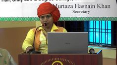 Mahant Divya Giri Ji of Mankameshwar Mandir Lucknow at Ali Day Symposium...