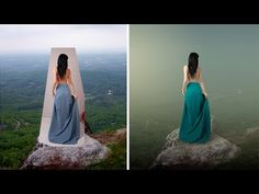 Photoshop Tutorials : Remove and Change Background Indoor to Nature - YouTube