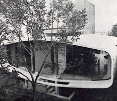 Casa habitacion en Pedregal, Rivera 85, Ote Jardines del Pedregal, Coyoacán, México DF 1962  Arqs. José Candano y Jose Gómez