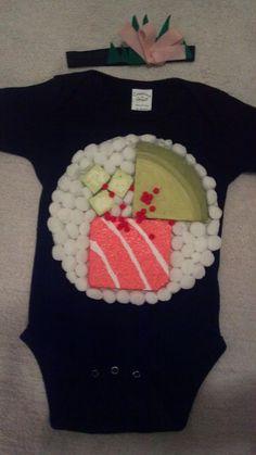 READY TO SHIP Sushi Costume  Sz 1218 mos by paperdollsink on Etsy, $25.00