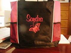 Tote Bag NANA NURSE GYM BIRTHDAY GRADUATION GIFT FRIEND MOM butterfly OFFICE #PORTAUTHORITY #TotesShoppers