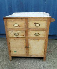 Vtg 40s 50s 60s Industrial Style Kitchen Work bench Cupboard Storage Cabinet | eBay