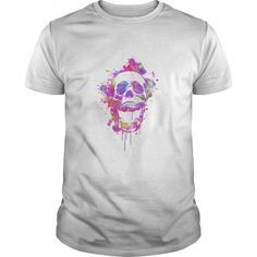 Cool Cool Abstract Graffiti Watercolor Panda Portrait in Black amp Whit T shirts