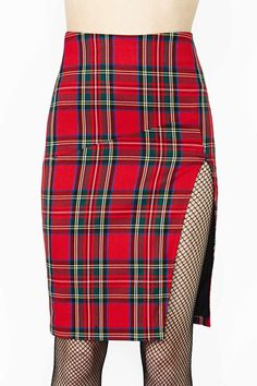 High Holidays Plaid Skirt.