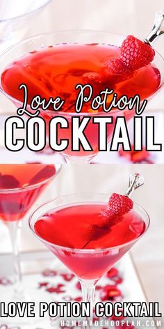 Valentine's Day Drinks, Fancy Drinks, Cocktail Drinks, Yummy Drinks, Cocktail Recipes, Strong Alcoholic Drinks, Beverages, Colorful Drinks, Sweet Cocktails