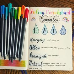 Feeling overwhelmed? How to use your Bullet Journal to find your way to a better day. Inspiration for self care.
