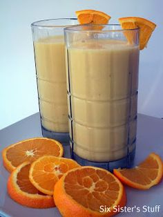 Homemade Orange Julius with bananas . . . this is so good!