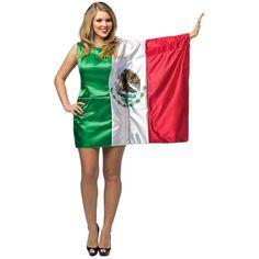 Flag Dress Mexico Costume Adult Cinco de Mayo Fancy Dress #RastaImposta