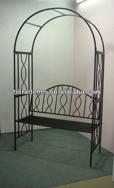 Metal Garden Arch With Bench   Buy Metal Garden Arch With Bench,Garden Arch  Designs,Metal Door Arch For Decorations Product On Alibaba.com