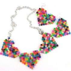 Turn Perler beads into whimsical jewelry in this cheap and easy tutorial from The Impatient Crafter!