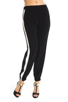 Pantalon bandes blanches sport- Pantalon Neottie | Derhy