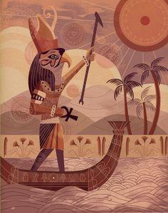 """Beautiful illustration """"Egypt"""" by Wyatt Glennon"""