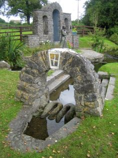 Mostly for the folklore and mythology. Brigid's Well in Kildare, Ireland. Alexandre Le Grand, St Brigid, Emerald Isle, To Infinity And Beyond, Ireland Travel, British Isles, Northern Ireland, Dream Vacations, Places To See