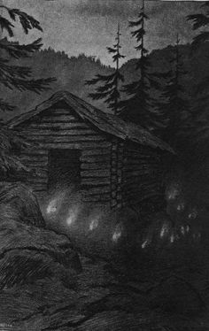 Theodor Kittelsen - Блуждающие огоньки, 1900s