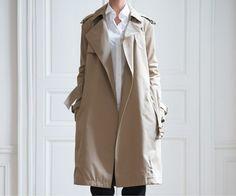 CELINE Open front trench coat