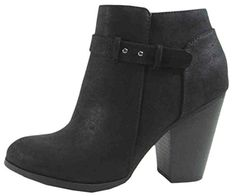 Soda Womens House Inner Zip Ankle Bootie 10 BM US Black *** Read more reviews of the product by visiting the link on the image.