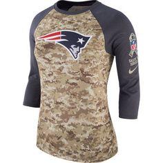 Nike New England Patriots Women s Camo Navy Salute to Service Legend  Three-Quarter Raglan c1c0124d3
