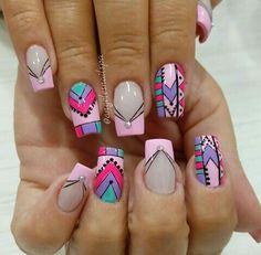 Abstract Nail Art, Nail Arts, Beauty Nails, Nail Colors, Nail Art Designs, My Nails, Nail Polish, Ideas, Art Nails