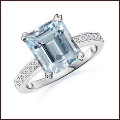 Aquamarine Cocktail Ring jewelry