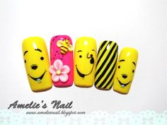 winnie the pooh nail designs | Amelie's Nail Journey: Hello! It's Winnie The Pooh!