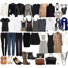 """French Parisian Wardrobe Essentials"" by mochimac on Polyvore"